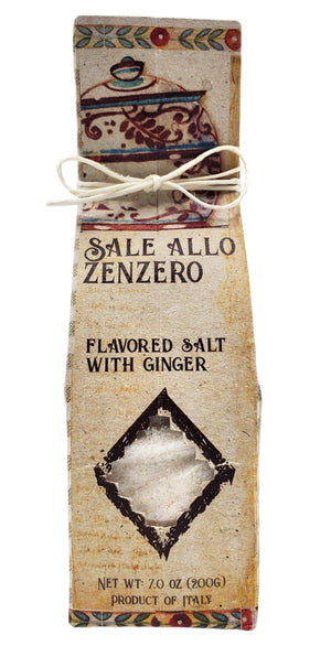 Casarecci Sale Allo Zenzero Flavored Salt with White Ginger, 7 oz Pantry Casarecci