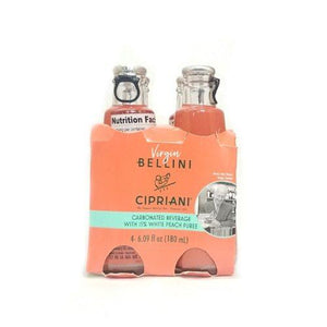 Cipriani White Peach Virgin Bellini Mix 4 Bottles - 6.09 fl oz