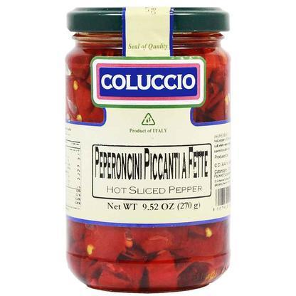 Coluccio Italian Hot Sliced Peppers, 9.5 oz