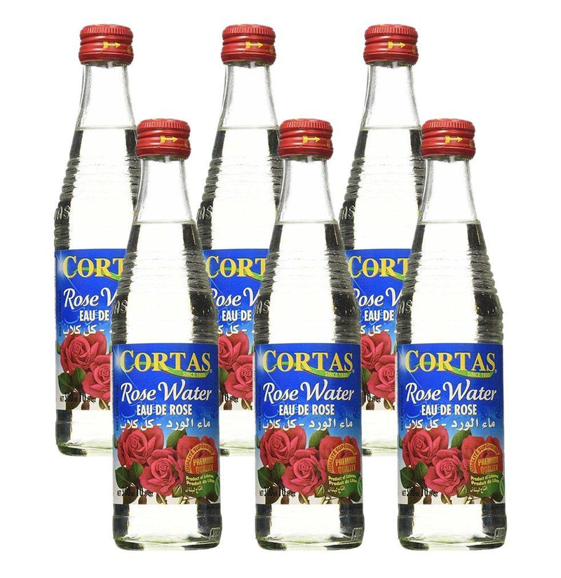 Cortas Rose Water, 10 oz Sauces & Condiments Cortas Pack of 6