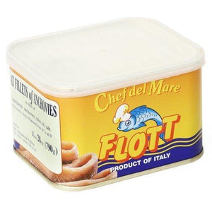 Flott Anchovies Fillets in Olive Oil - 28 oz