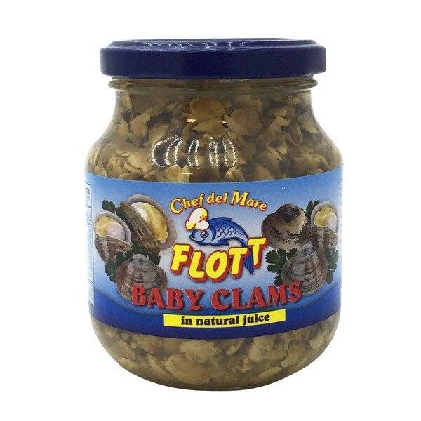 Flott Baby Clams in Natural Juice, 9.75 oz