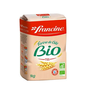 Francine Organic French Wheat Flour T55, 2.2 lbs (1kg) Pantry Francine