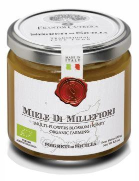 Organic lemon blossom honey from Italy.