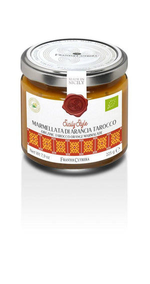 Frantoi Cutrera Organic Tarocco Blood Orange Marmalade, 8 oz