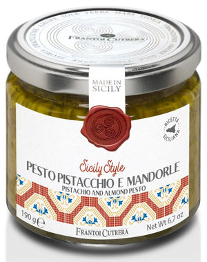 Frantoi Cutrera Pistachio and Almond Basil Pesto, 6.7 oz