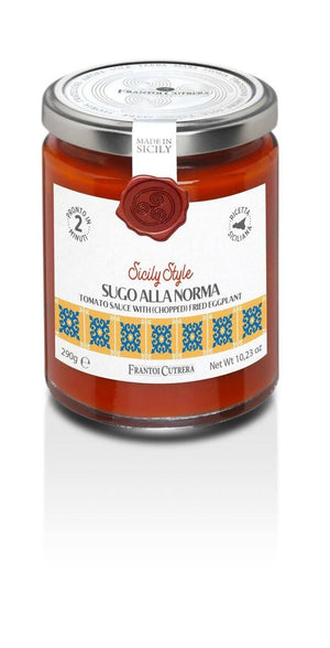 Frantoi Cutrera Tomato Sauce with Chopped Fried Eggplant, 10.2 oz