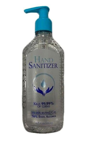 Hand Sanitizer Moisturizing Gel with 70% Ethyl Alcohol, 6.7 oz