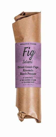 Hellenic Farms Fig Salami with Almonds and Black Pepper, 6.4 oz Sweets & Snacks Hellenic Farms