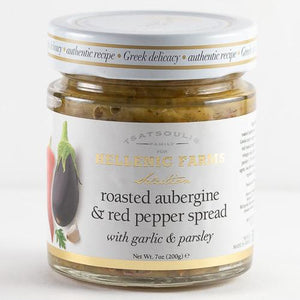 Hellenic Farms Roasted Aubergine and Red Pepper Spread, 7 oz Pantry Hellenic Farms