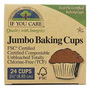 If You Care Baking Cups Jumbo Unbleached, 24 Cups