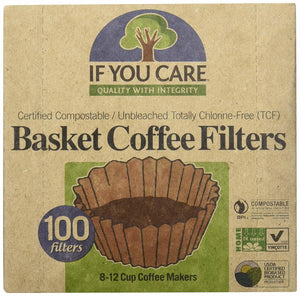 If You Care Basket Coffee Filters, 100 Filters (Pack of 12)
