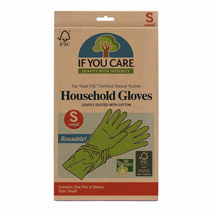 If You Care Cotton Flock Lined Household Gloves, Small