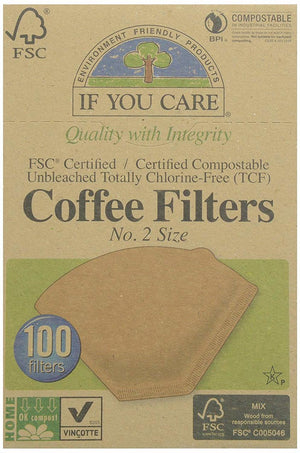 If You Care FSC Unbleached No.2 Coffee Filters, 100 Count ( Pack of 12)