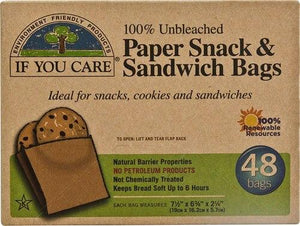 If You Care Paper Sandwich and Snack Bags - 48 bags