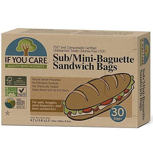 If You Care Sub/Mini Baguette Sandwich Bags, 30 count