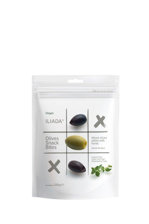 Iliada Mixed Pitted Olives with Herbs Snack Bites, 6 oz (170 g) Sweets & Snacks Iliada