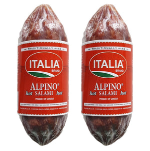 Italia Brand Gluten Free Salami Alpino Hot Chub, 10 oz [PACK of 2]