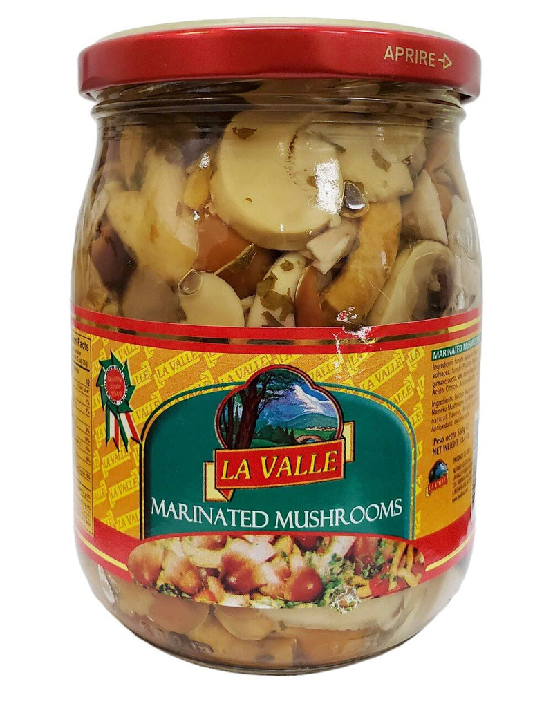 Italian Marinated Mushrooms in oil by La Valle - 19.4oz