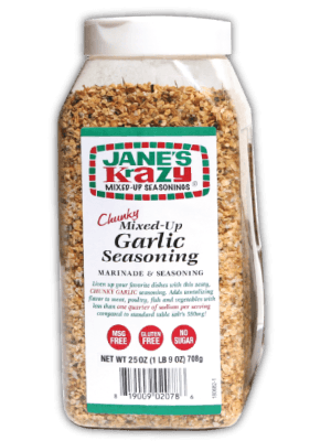 Jane's Krazy Chunky Mixed-Up Garlic Seasoning Jug, 25 oz Pantry Jane's Krazy Seasonings