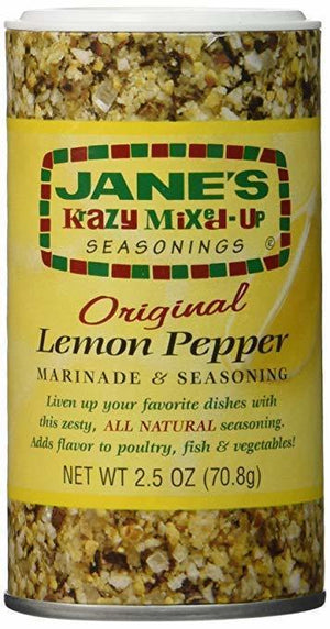 Jane's Krazy Lemon Pepper Marinade & Seasoning, 2.5 oz