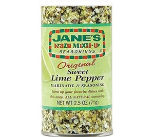 Jane's Krazy Mixed-Up Sweet Lime Pepper Seasoning, 2.5 oz