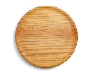 Khayyan Artisanal Pine Wood Plate for serving Octopus, Pizza, and more - 18 cm Khayyan