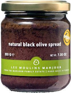 Les Moulins Mahjoub Natural Black Olive Spread - 200g