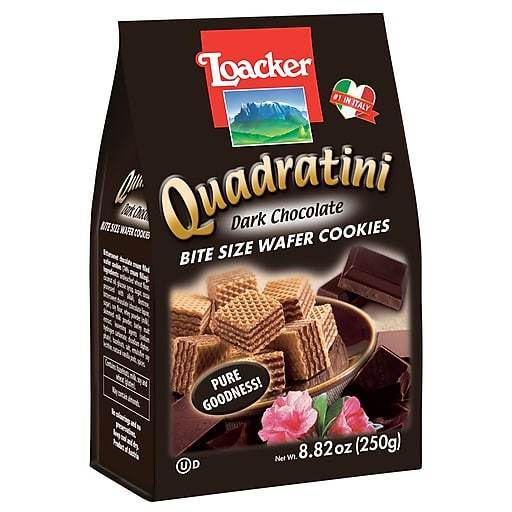 Loacker Quadratini Dark Chocolate Cube Wafers, 8.8 oz