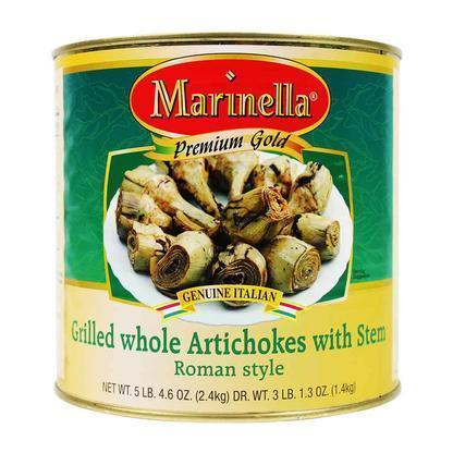 Marinella Grilled Whole Roman Artichokes with Stem, 3 lbs