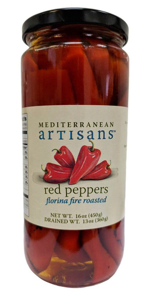 Mediterranean Artisans Florina Fire Roasted Red Peppers, 16 oz