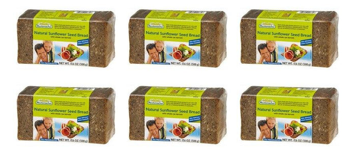Mestemacher Organic Natural Sunflower Seed Bread - 6 pack (17.6 oz)