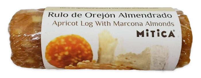 Mitica Apricot Log with Marcona Almonds, 180 grams