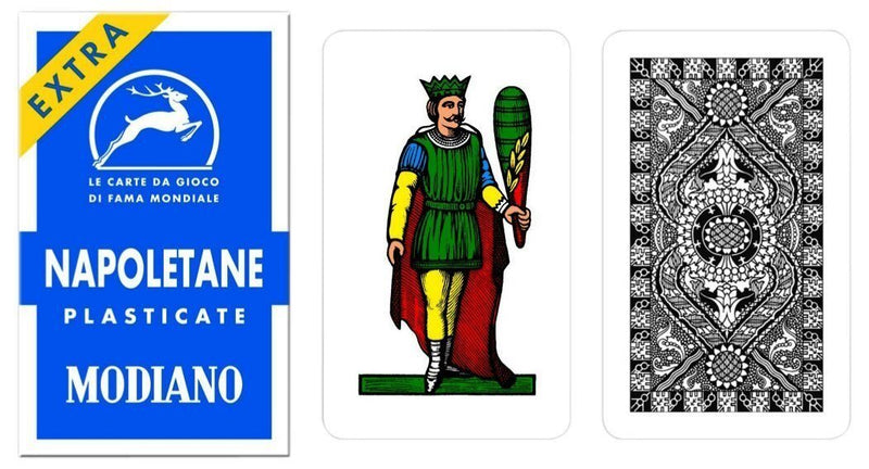 Modiano 97/31 Italian Napoletane Blue Playing Cards - 1 deck