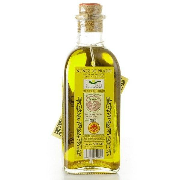 Nunez De Prado Extra Virgin Olive Oil (Organic) - 500ml Glass Bottle