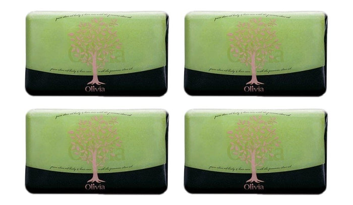 Olivia Glycerine Facial Soap 4 Pack with Olive Oil & Vitamin E, 4 oz each