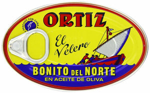 Ortiz Bonito Del Norte White Tuna in Olive Oil Tin (Pack of 12) - 3.95oz each