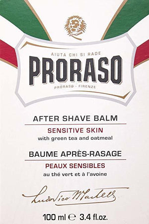 Proraso After Shave Balm for Sensitive Skin, 3.4 Fl oz