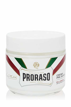 Proraso Pre-Shave Cream for Sensitive Skin, 3.6 oz