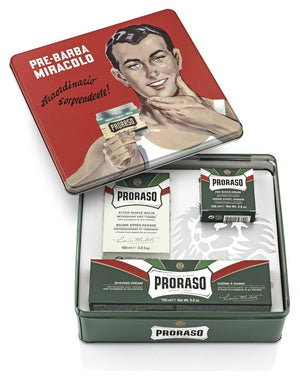 Proraso Vintage Gino Tin Gift Set - Refreshing and Toning Formula