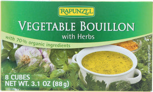 Rapunzel Vegetable Bouillon with Herbs, 3.1 oz