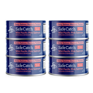Safe Catch No Salt Added Wild Alaska Pink Salmon, 5 oz can (Pack of 6)