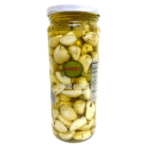 Sanniti Garlic Cloves in Oil with Herb, 15.7 oz (445 g) Olives & Capers Sanniti