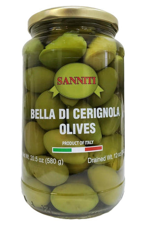 Sanniti Green Cerignola Olives Jar, 20.5 oz