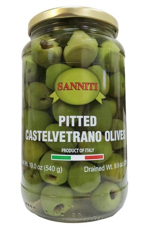 Sanniti Pitted Castelvetrano Olives Jar, 19 oz