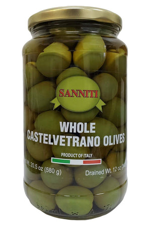 Sanniti Whole Castelvetrano Olives Jar, 20.5 oz