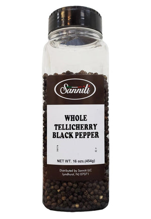 Sanniti Whole Tellicherry Black Pepper, 16 oz