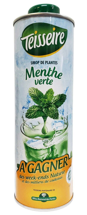 Teisseire French Mint Syrup, 25 oz