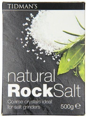 Tidman's Natural Rock Salt 17.6 oz