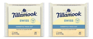 Tillamook Sliced Swiss Cheese, 12 oz (Pack of 2)